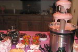 Fiestas con Glamour - Servicios Catering para Fiestas Bodas y eventos en Madrid - Fuente de Chocolate para fiestas Madrid