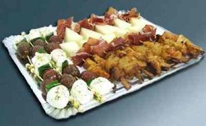 Fiestas con Glamour - Servicios de Catering - Bandejas Topacio